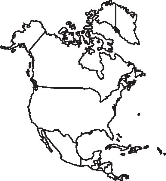 Usa Map Northwest Clipart.