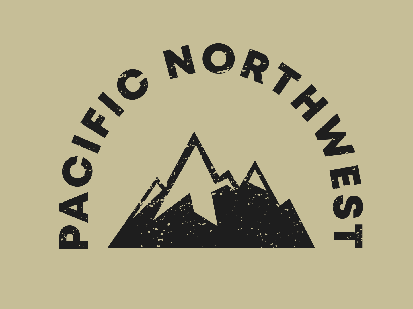 Pacific Northwest Mountain logo by Yannis Choglo on Dribbble.
