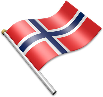 Flag Icons of Norway.