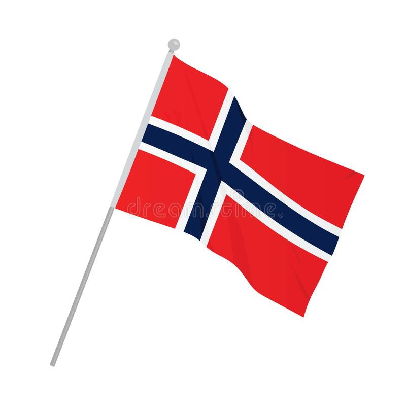 Norway Flag Stock Illustrations.