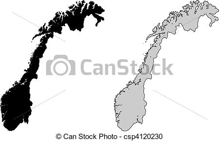 Norway map clipart 1 » Clipart Station.