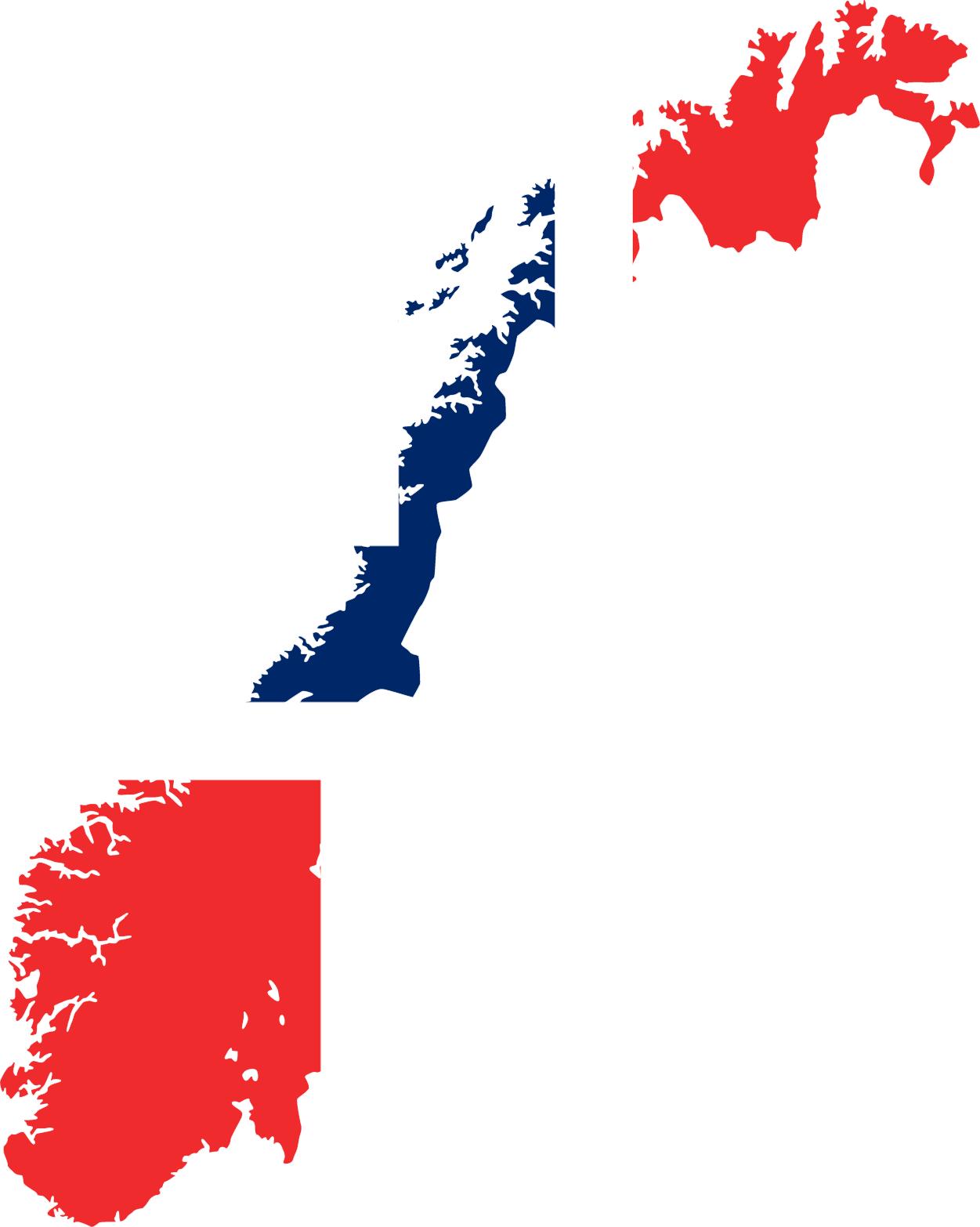 Norway Flag Map • Mapsof.net.
