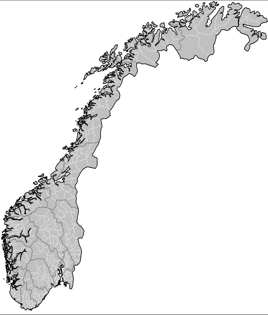 Norway Municipalities • Mapsof.net.