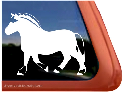 Clipart of silver fjord horses.