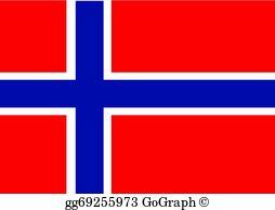 Norway Flag Clip Art.