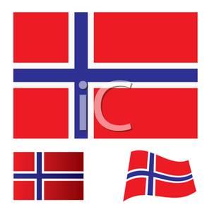 Norwegian flag clip art.