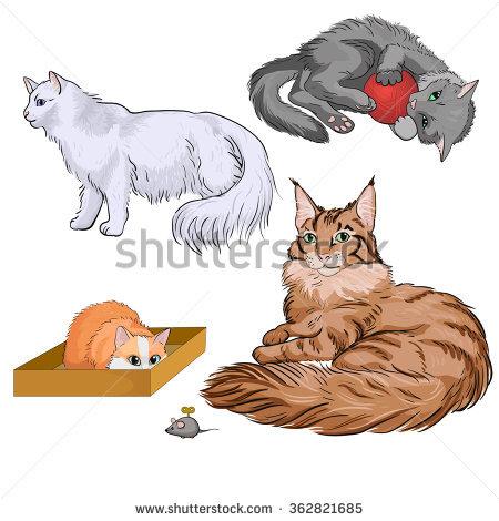 Brown Cat Stock Vectors & Vector Clip Art.