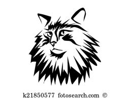 Norwegian forest cat Clipart and Illustration. 23 norwegian forest.