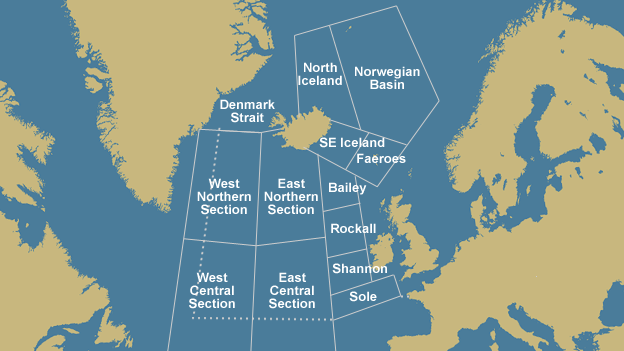 Norwegian Sea Map.