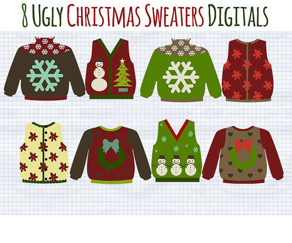 Christmas Clip Art Ugly Christmas Sweater Clipart Holiday.