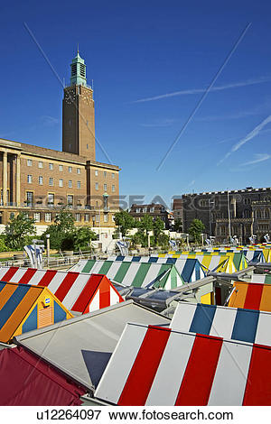 Picture of England, Norfolk, Norwich, The brightly coloured.
