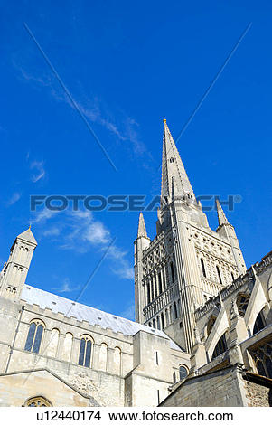 Stock Photo of England, Norfolk, Norwich. Norwich Cathedral, a.