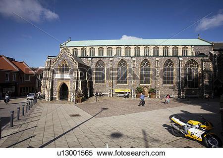 Stock Image of England, Norfolk, Norwich, The facade of the Grade.
