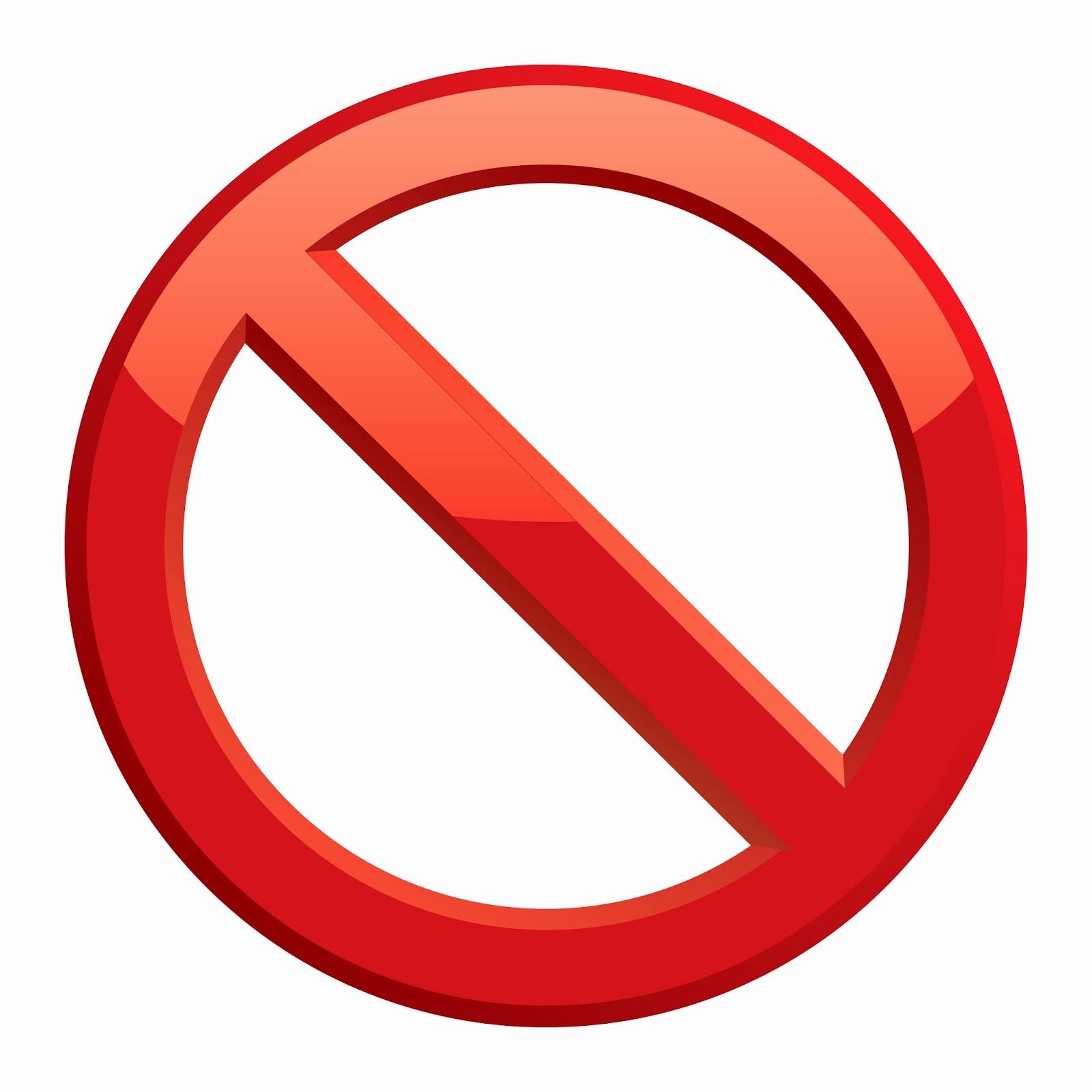 Just Say No Sign.