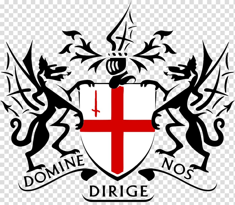 Domie Dirige Nos logo, City Of London transparent background.