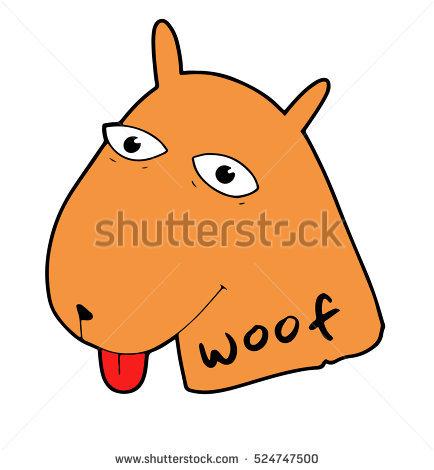 Cartoon_big_dogs_eye Stock Photos, Royalty.