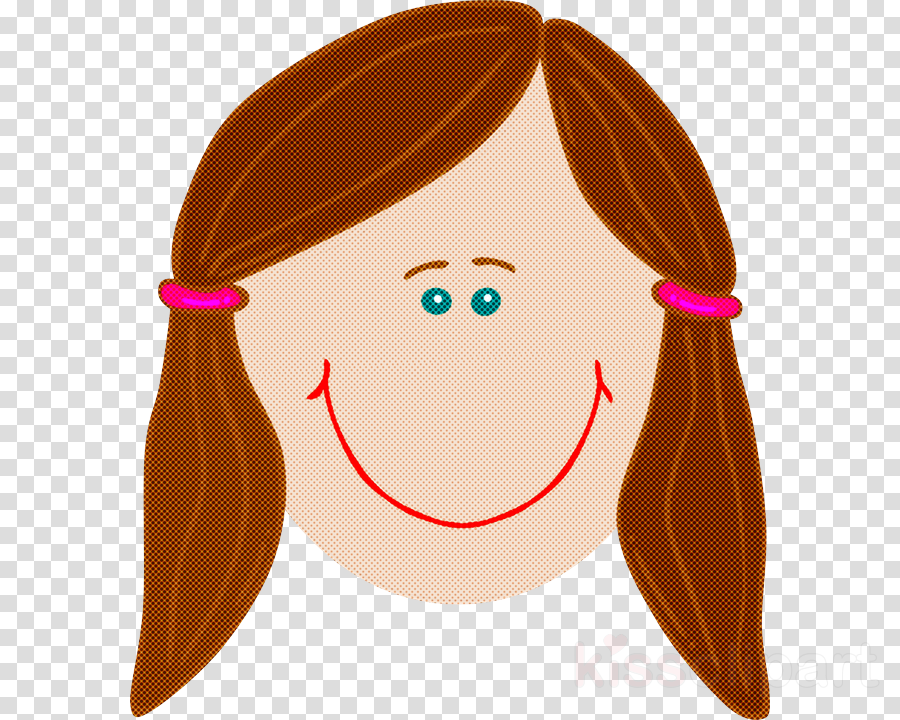 cartoon hair nose brown brown hair clipart.