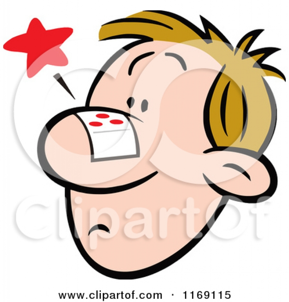 nose pain clipart nose pain clipart royalty free rf bandage.