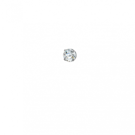 3mm CZ Nose Stud in 18K White Gold.
