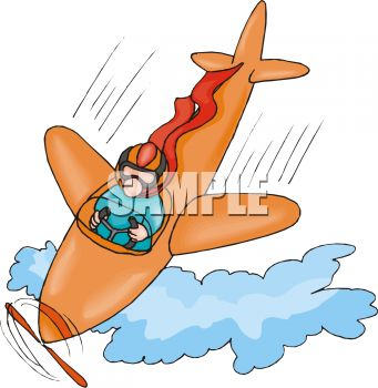 Cartoon of a Plane in a Nose Dive.