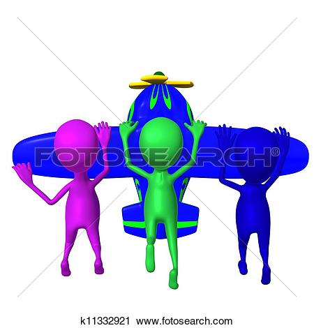Clipart of View puppies holding tightly after nosedive airplane.