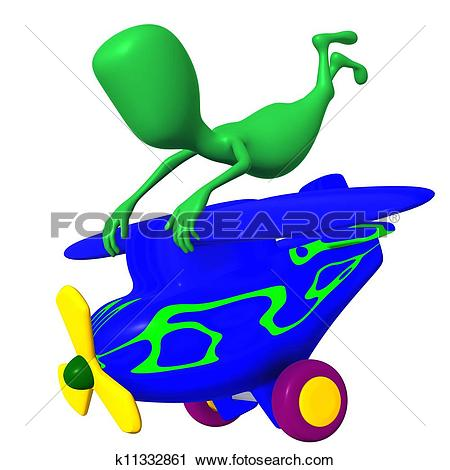 Clipart of View puppy holding tightly after nosedive airplane.