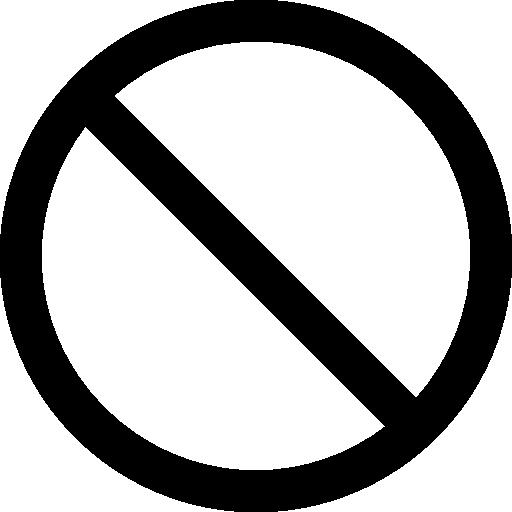 Not allowed symbol.