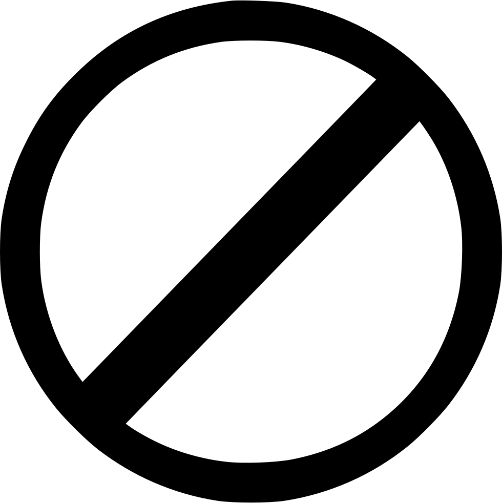 Not Allowed Svg Png Icon Free Download (#523361.