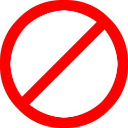 not allowed symbol (transparen background).