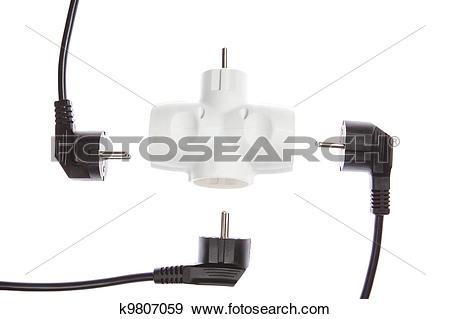 Stock Photograph of The wires are not connected to an electric tee.