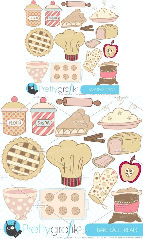 Bake sale clipart commercial use.