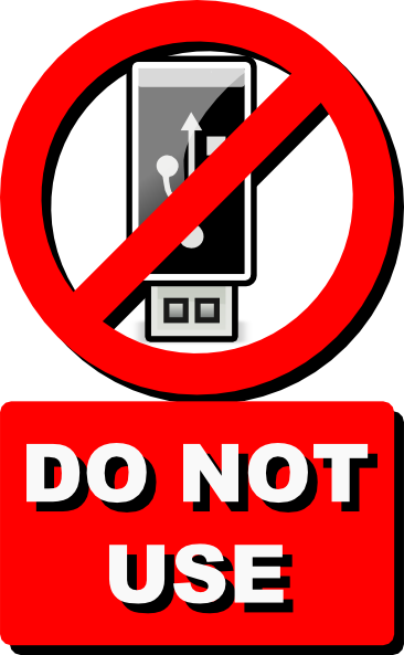 Do Not Use Usb Clip Art at Clker.com.