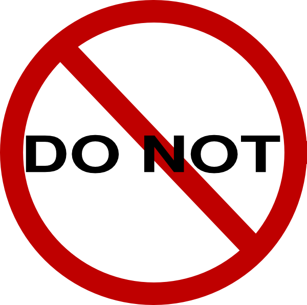 Do Not Use Clipart.