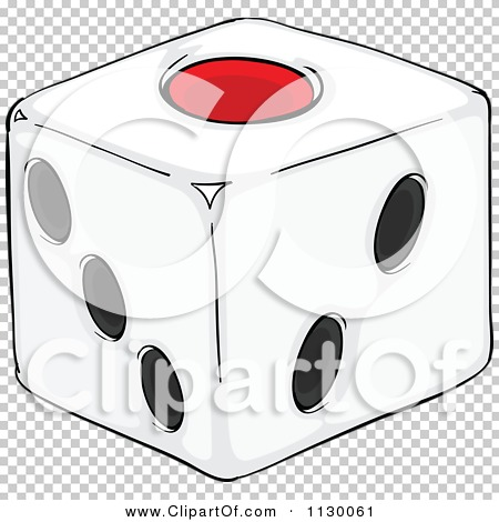 Cartoon Of A Ludo Dice On One.