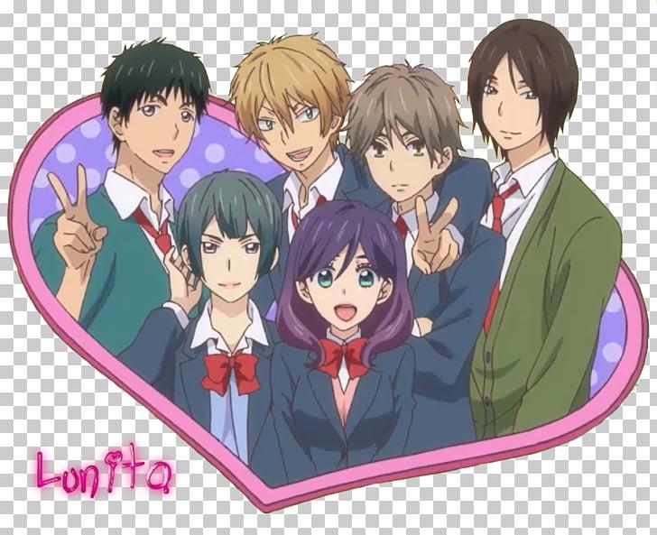 Kiss Him, Not Me Anime Yaoi fandom Chibi, Anime PNG clipart.