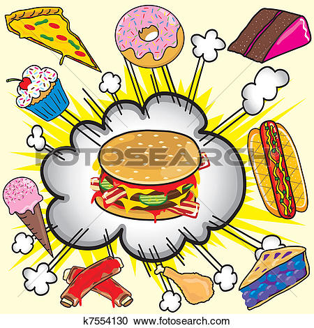 Clipart of Unhealthy Food k16279462.