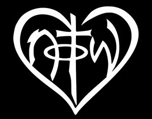Details about NOTW Not Of This World Heart Christian Jesus GOD Car Window  Vinyl Decal Sticker.