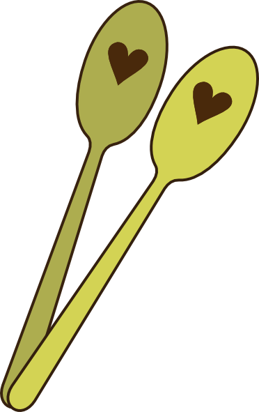 silver spoon clipart colorful spoons not opaque #md.