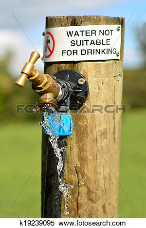 Stock Illustration of Water not suitable for drinking k19239095.