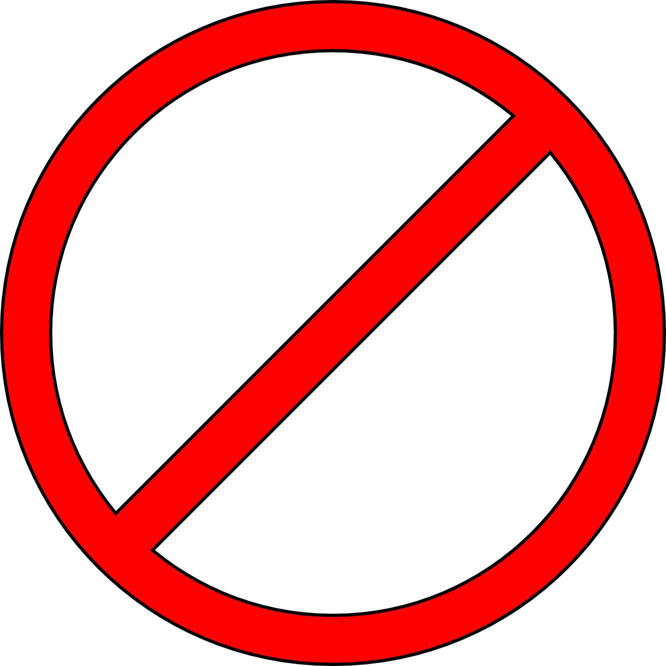 Do Not Symbol Clip Art N4 free image.