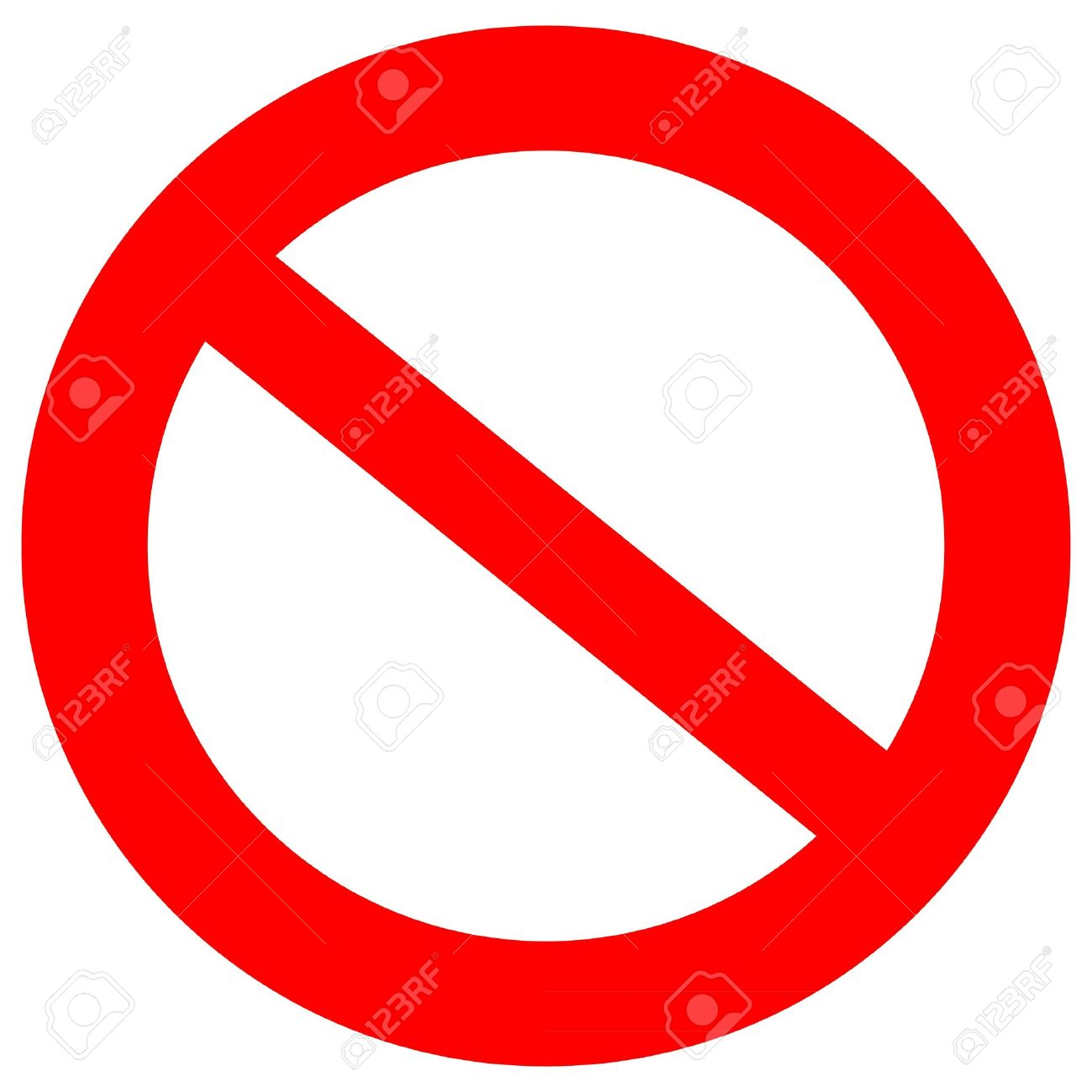 Clipart Not Allowed Symbol.