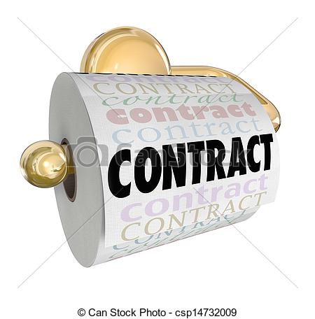 Stock Photography of Contract Nullified Void Not Worth Toilet.