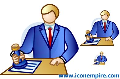 Notary public clipart.