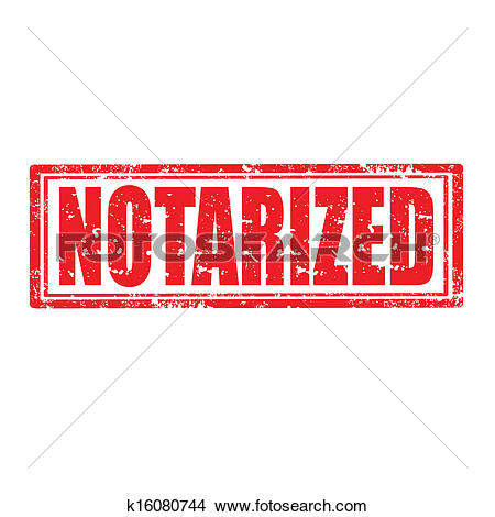 Clipart of Notarized.