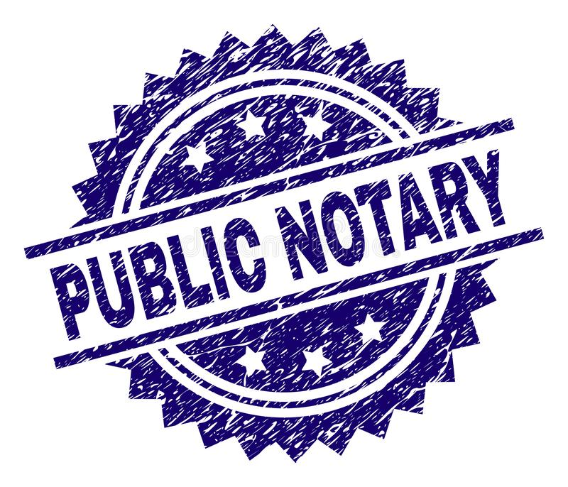 Notary Stamp Stock Illustrations.