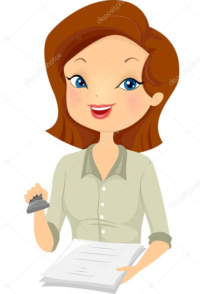Clipart: notary.