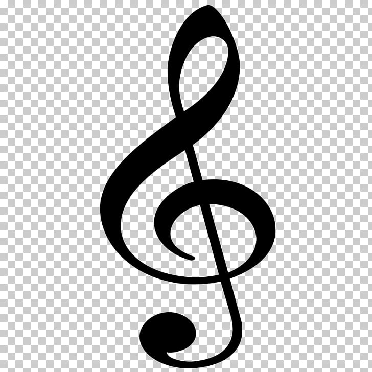 Clef Treble Musical note Sol anahtarı, musical note PNG.