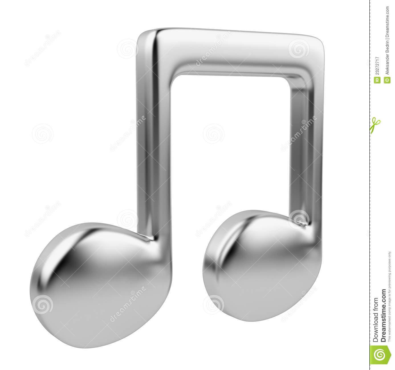 Nota Musical 3D. Icono Aislado Stock de ilustración.