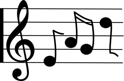Music notation clipart free.
