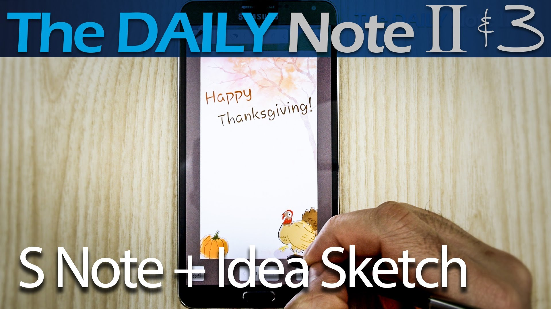 Happy Thanksgiving! (S Note, Idea Sketch, Transparent clip art.